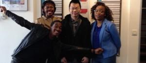 Une partie de l'équipe fondatrice d'infinity Space: Cédric, Marcelle, Song et Reine.